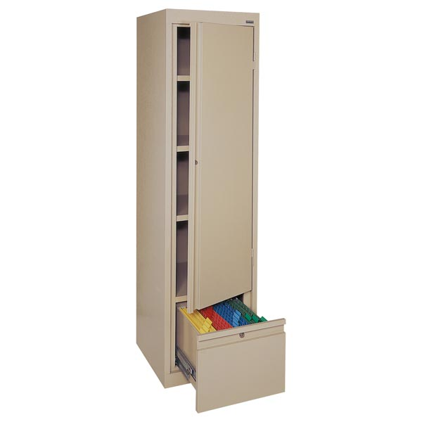 Sandusky lee single door storage cabinet 17 x 18 x 64 for 1 door storage cabinet