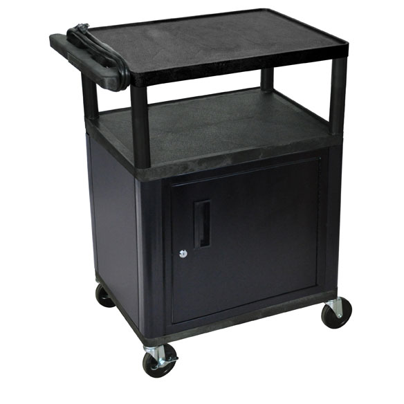 lp34ce-threeshelf-plastic-av-cart-w-cabinet-electric1