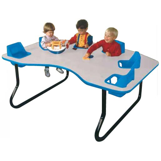 Toddler tables kidney toddler table 6 seat 6 seat for Eating table