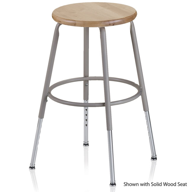 Ki 600 Series Adjustable Steel Stool 25 Quot 33 Quot 624a