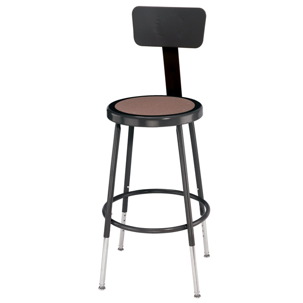 Elegant Height Adjustable Stool with Backrest