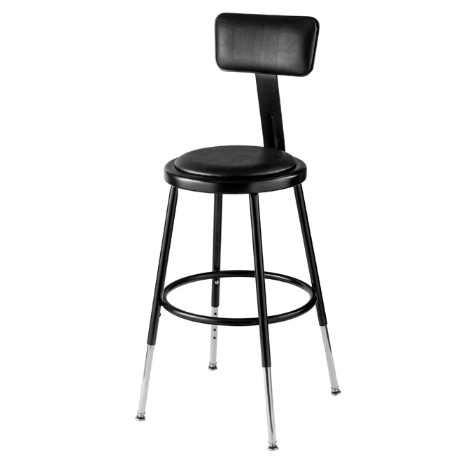 6418hb-10-black-padded-steel-stool-adjustable-19-27-h-w-backrest