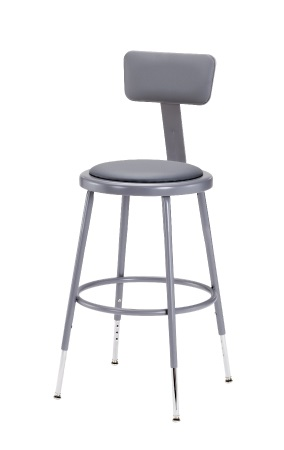 6418hb-1927h-metallic-gray-padded-steel-stool-wbackrest
