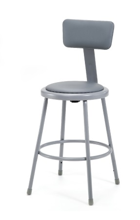 6424b-24h-metallic-gray-padded-steel-stool-wbackrest