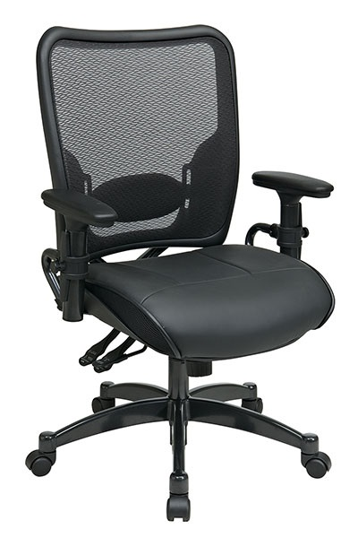 6876-professional-dual-function-dark-airgrid-back-chair-w-black-leather-seat
