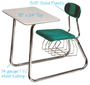 687s-sand-top-solid-plastic-double-entry-sled-base-desk-wbookbox