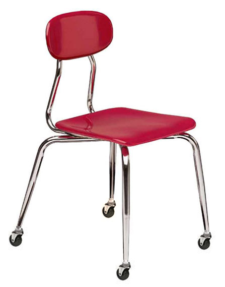 All Solid Plastic Chair W Casters By Scholar Craft