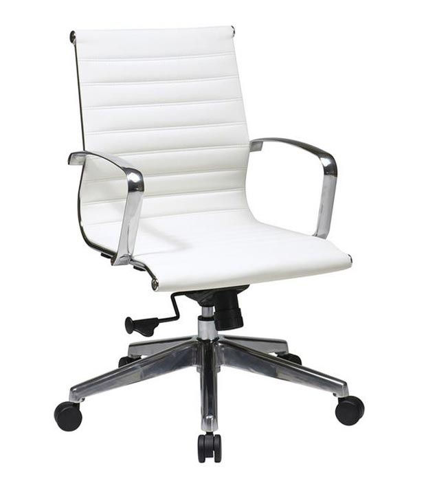 74123lt Executive Mid Back Eco Leather Chair