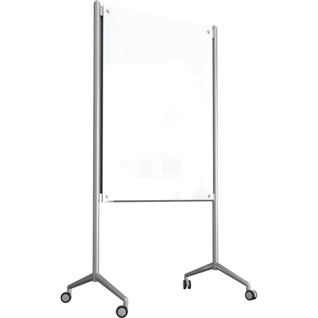 Best Rite Enlighten Mobile Glass Whiteboard 3 X 4