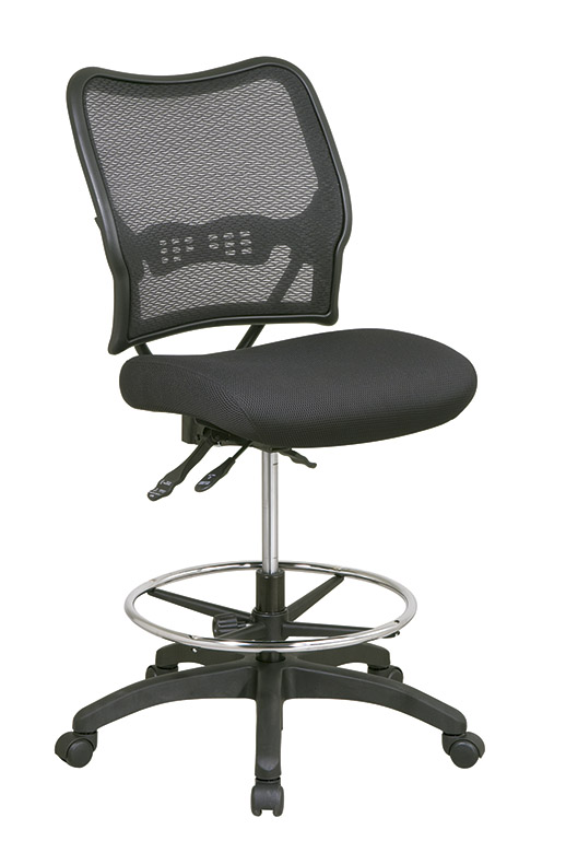 1337n30d Air Grid Drafting Stool With Mesh Seat