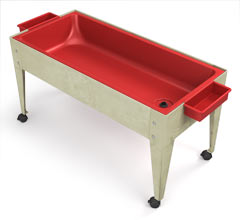 s6424-24h-6d-red-liner-sand-and-water-activity-center-wlid-and-4-casters
