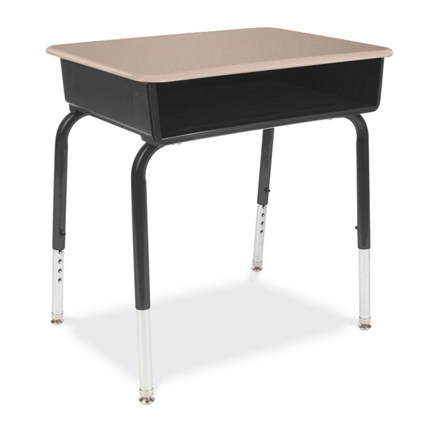 Virco Open Front Classroom Desk With Solid Plastic Top