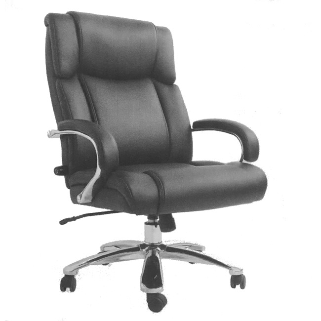 samsonite san mateo big & tall bonded leather office chair - 78568