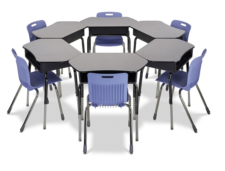 Collaborative Student Desks ~ Virco desk with collaborative laminate top ct open