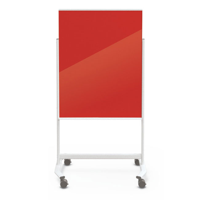 Best Rite Visionary Move Mobile Glass Whiteboard 3 X 4