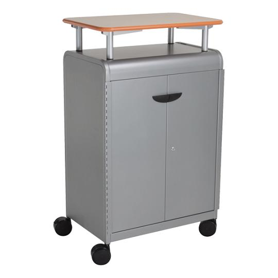 30414-cascade-series-threeshelf-mobile-presentation-cart-w-doors-2858-w-x-19-d