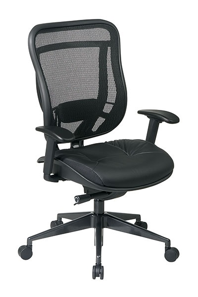 818-41g9c18p-executive-high-back-chair-with-breathable-mesh-back-leather-seat