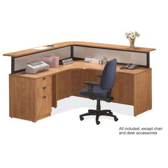 PLB9 Reception L-Shaped Desk Suite by NDI Office Furniture
