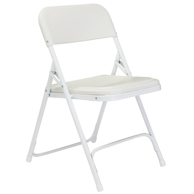 Lightweight Folding Chair ( Bright White Seat u0026 Back / White Frame ) by National Public Seating 821 - Stock #96127  sc 1 st  Worthington Direct & National Public Seating Lightweight Folding Chair ( Bright White ...