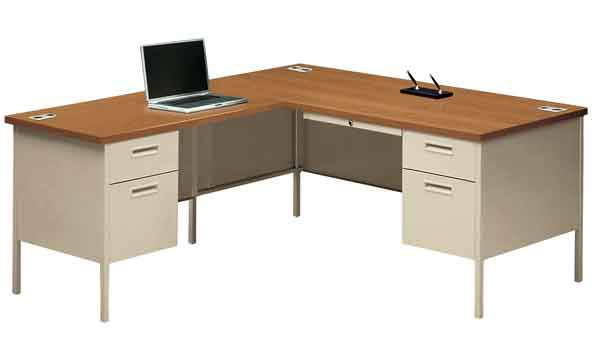All Metro Classic Series L Shaped Desk By Hon Options Office - Hon computer table