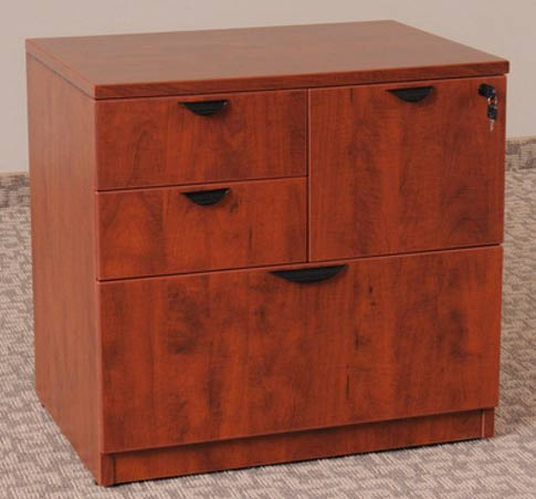 Ofd114 Cherry Laminate Combo File Cabinet