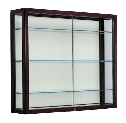 all heirloom series wall mount display cases by waddell. Black Bedroom Furniture Sets. Home Design Ideas