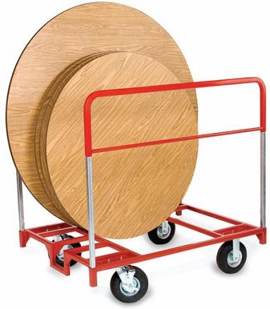 3751-xl-round-folding-table-step-assist-truck-with-pneumatic-tires