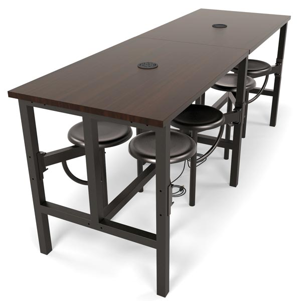 Endure Standing Height Table With Seats L By OFM - Standing height work table