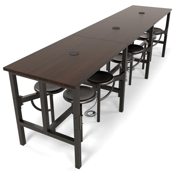Ofm Endure Standing Height Table With Seats Conference - 12 person conference table
