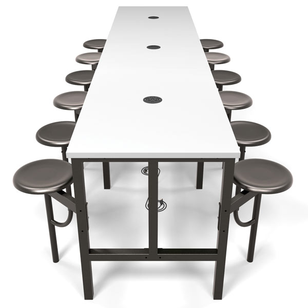 Ofm Endure Standing Height Table With Seats Conference - Standing height conference table