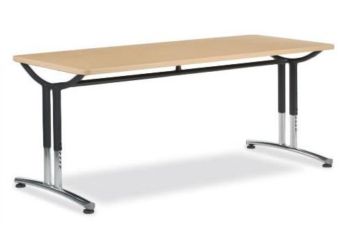 Virco Text Seminar Training Table Adjustable Height X - Adjustable height training table