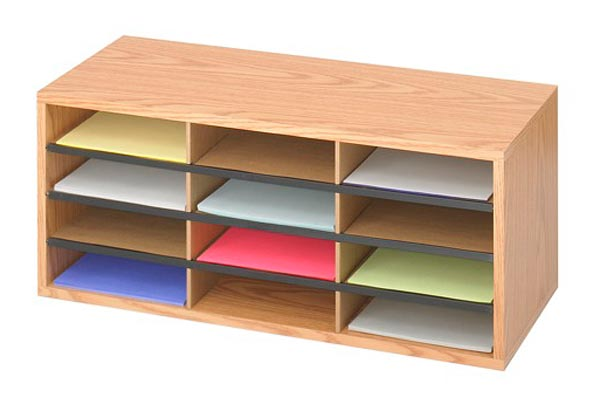 9401mo-12-compartment-wood-literature-organizer