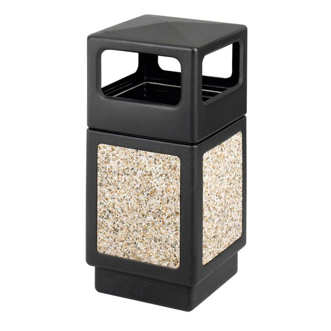 Safco Products Side Opening 38 Gallon 9472 Trash