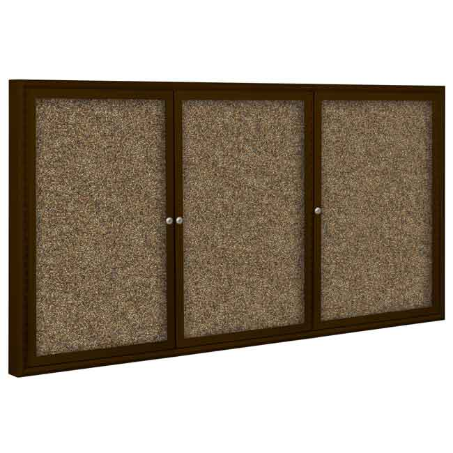 94pch-o-outdoor-enclosed-bulletin-board-3-door-coffee-aluminum