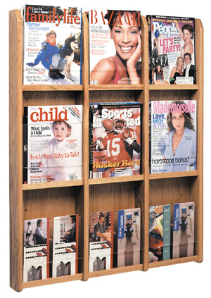 lm12-9-magazine-or-18-pamphlet-woodacrylic-wall-rack