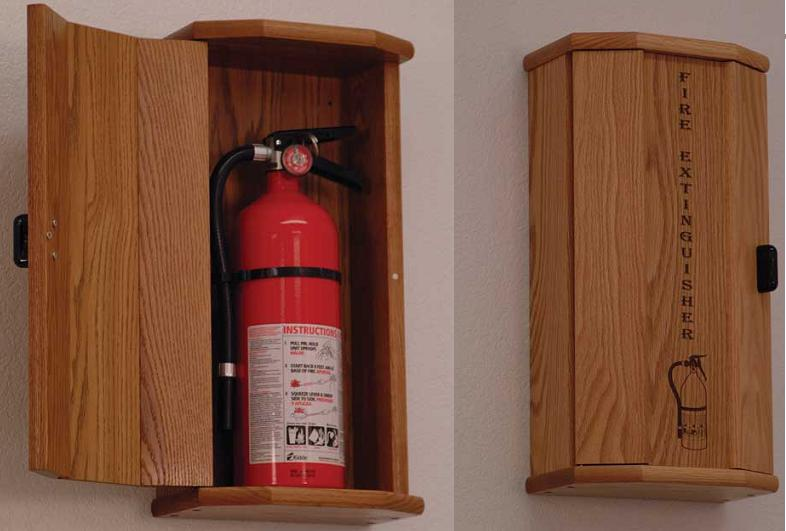 fec20-10-lb-fire-extinguisher-oak-cabinet-with-engraved-panel