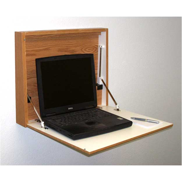 stock wooden mallet wd1721 wall desk with hinged closure