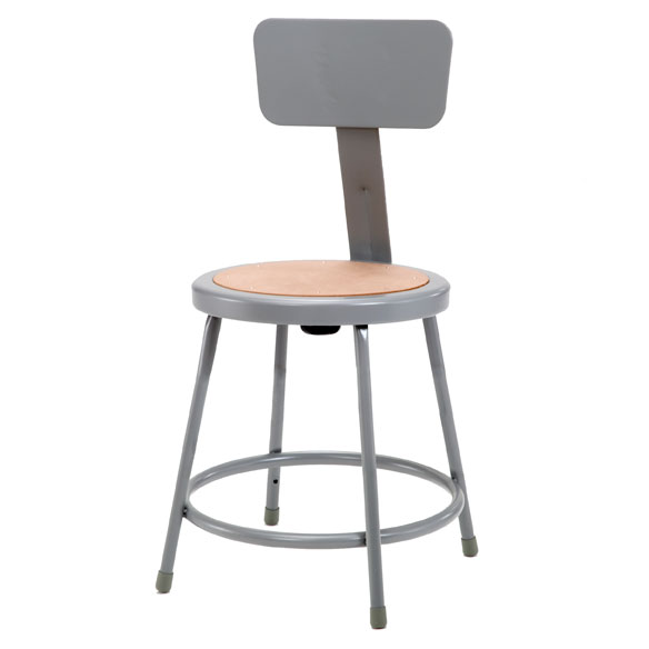 National Public Seating Steel Stool W Backrest 18 Quot H