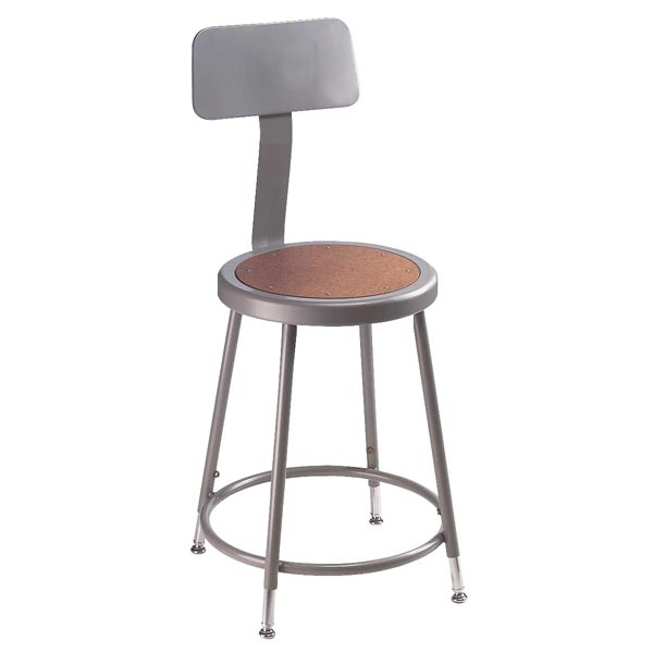 National Public Seating Adjustable Height Steel Stool W