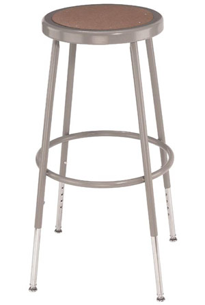 National Public Seating Adjustable Height Steel Stool 25