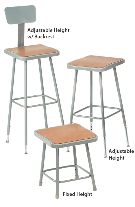 6300-series-square-seat-lab-stools-by-nps  sc 1 st  Worthington Direct & All 6300 Series Square Seat Science Lab Stools By Nps Options ... islam-shia.org