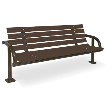 recycled-plastic-single-post-contour-outdoor-bench-by-ultraplay