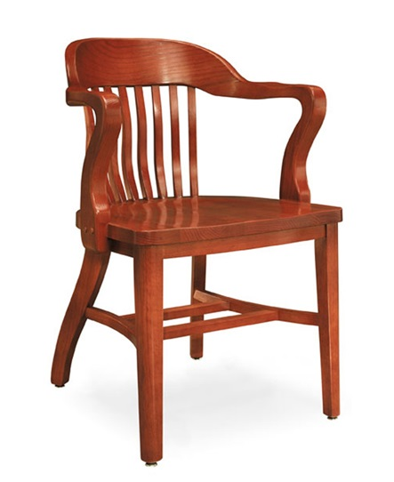 Bon 981a Boston Solid Oak Chair W Tall Arms