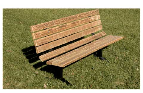 All Pressure Treated Wood Steel Outdoor Bench By Ultraplay Options - Treated lumber picnic table