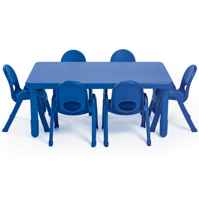 Angeles Myvalue Preschool Rectangle Table And Chairs Set