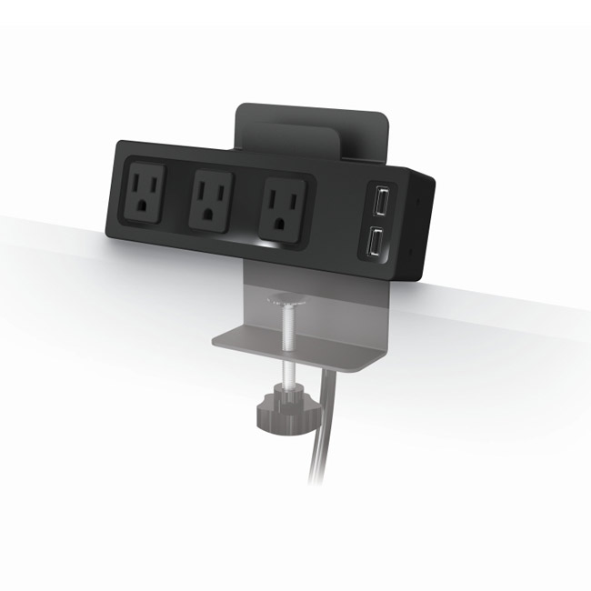 Stock #20733   Balt 66675 Clamp Mount Outlet And Usb Charger