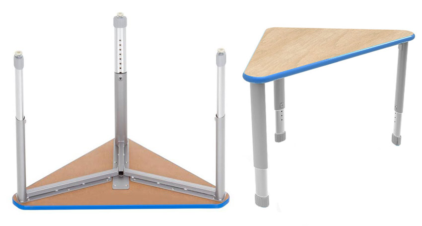 Adjustable Height Collaborative Desks for all student ages