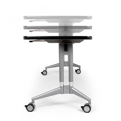 Smith System Uxl Adjustable Height Nest And Fold Training Table - Adjustable height training table