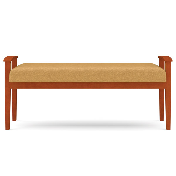 Lesro Amherst Open Arm 2 Seat Bench Designer Fabric K1005b5 Reception Waiting Room