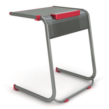 Cantilever Student Desk w/ Tablet Cradle